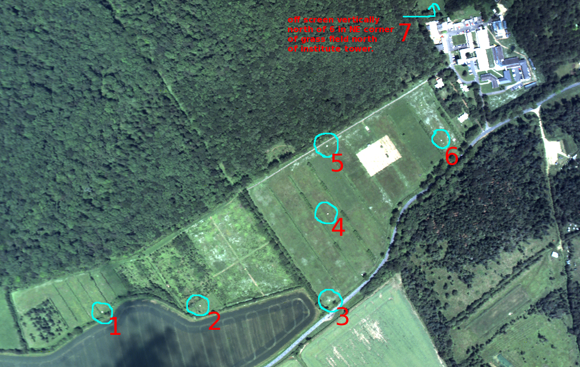 Monkswood calibration targets (annotated)